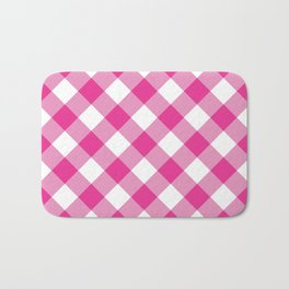 Gingham - Pink Bath Mat