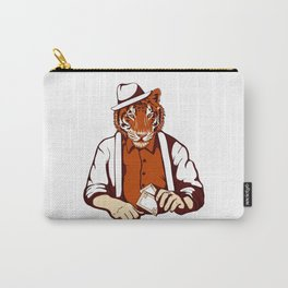 Tiger Poker Face Carry-All Pouch
