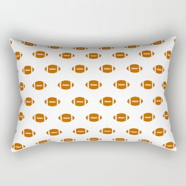 Texas longhorns orange and white university college texan football pattern Rectangular Pillow