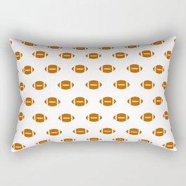 Texas longhorns orange and white university college texan football pattern Rectangular Pillow