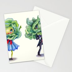 Leafy Greens in Love Stationery Cards