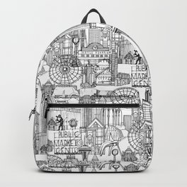 Seattle black white Backpack