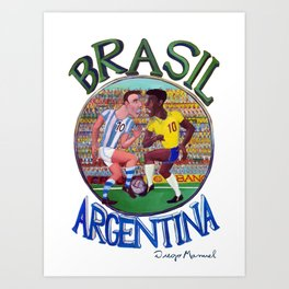 Brasil Argentina Art Print