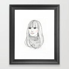 Lady G Framed Art Print