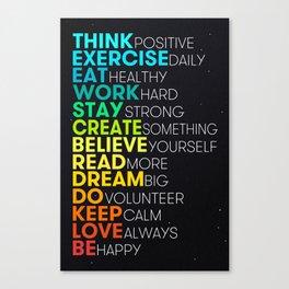 Motivating Inspiring Daily Dose Canvas Print