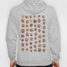 naked butts Hoody