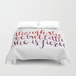 Shakespeare Quote - Handletter Watercolor Typography  Duvet Cover