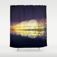 portland Shower Curtains featuring Portland by dibec