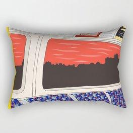 View from London Train Line Rectangular Pillow