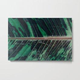Camo Leaf in Full Frame Metal Print