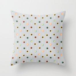 Cake Pop Parade - Gray Throw Pillow