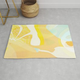 Lemon Meringue Melted Ice Cream  Rug