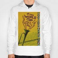 south africa Hoodies featuring World Cup: South Africa 2010 by James Campbell Taylor
