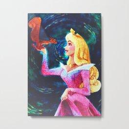 Princess Aurora Van Gogh Metal Print
