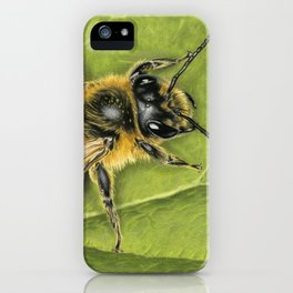 Honeybee On Leaf iPhone Case