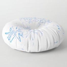 OB Blue & White Floor Pillow