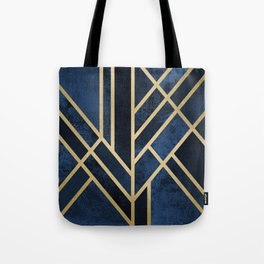 Art Deco Midnight Tote Bag