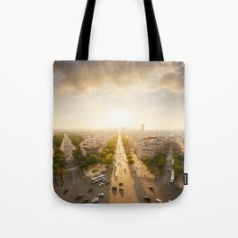 Champs Elysees From the Top Tote Bag