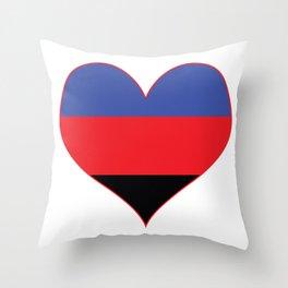 Polyamorous Heart Throw Pillow
