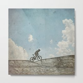 Mountain Biking Metal Print
