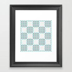 Geometric Pattern #179 (blue squares) Framed Art Print