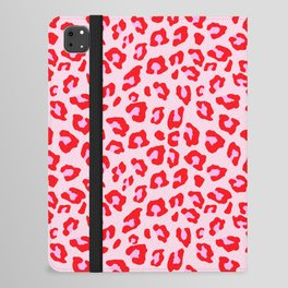 Leopard Print - Red And Pink iPad Folio Case