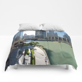 Chicago River Canyon Comforters