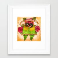 valentines Framed Art Prints featuring Valentines  by Georgia Roberts