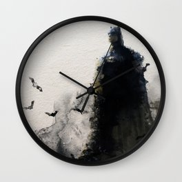 The Bat Watercolour Wall Clock