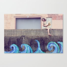 As the Waves Roll In Canvas Print