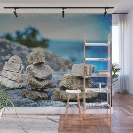 Huron Rock stack Wall Mural