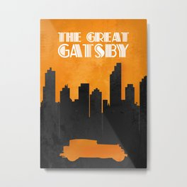 The Great Gatsby - Minimal Movie Poster. Metal Print