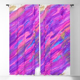 Abstract Pink and Purple Candyland Blackout Curtain