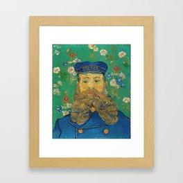 Vincent Van Gogh - Portrait of the Postman Joseph Roulin Framed Art Print