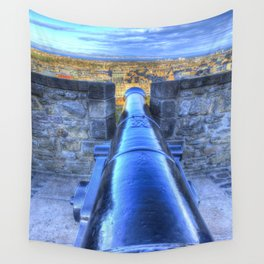 Edinburgh Castle Cannon Wall Tapestry