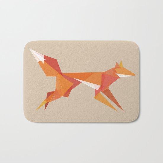Fractal geometric fox Bath Mat