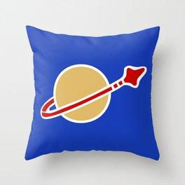 1980s Classic Lego Spaceman Throw Pillow