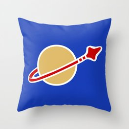 1980s Classic Lego Spaceman Throw Pillow