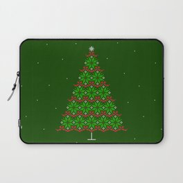 Fair isle knitted Christmas tree and snow Laptop Sleeve