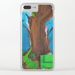 Comfy Couch. Abstract. Original Painting. Forest. Fantasy Forest. Fantasy. Jodilynpaintings. Clear iPhone Case