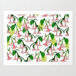Angels Trumpet Botanical Garden Art Print