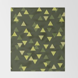 Triangles of Moss (Large) Throw Blanket