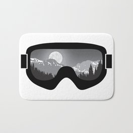 Moonrise Goggles - B+W - Black Frame   Goggle Designs   DopeyArt Bath Mat