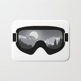 Moonrise Goggles - B+W - Black Frame | Goggle Designs | DopeyArt Bath Mat