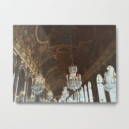 Hall of Mirrors in Versailles Metal Print
