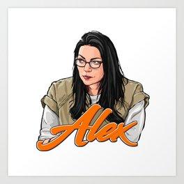 Alex Vause, I heart you. Art Print
