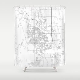 Minimal City Maps - Map Of Fort Collins, Colorado, United States Shower Curtain