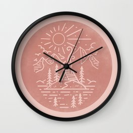 Mountain Scene Wall Clock
