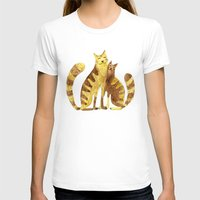 cats T-shirts featuring Cats by Anna Shell