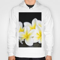 singapore Hoodies featuring Plumeria obtusa Singapore White by Sharon Mau